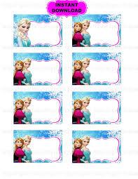 frozen tag princess printable disney frozen inspired