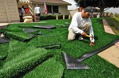 Artificial Grass Backyard by How To Install Artificial Grass In The Garden How To Install