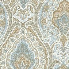 vassar horizon blue floral paisley cotton drapery fabric sw51021