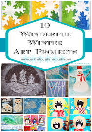 10 wonderful winter art projects our little house in the country