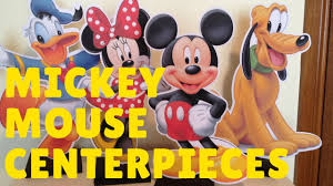 how to make mickey mouse u0026 minnie mouse centerpiece party