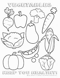 pretty design fruit and vegetable coloring pages to print