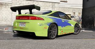 mitsubishi eclipse fast and furious 1995 mitsubishi eclipse gsx the fast and the furious gta5 mods com