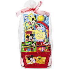 minnie mouse easter baskets mickey mouse filled easter basket walmart