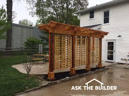 Pergola Designs For Patios Pergola Ideas For Small Patios Ask The Builderask The Builder