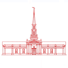hartford connecticut lds temple redwork embroidery design