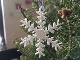 3d printed small snowflake ornaments from the snowflake machine