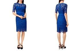blue lace dress bloomingdale s