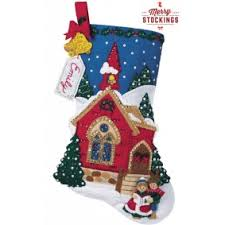 bucilla felt applique kits merrystockings