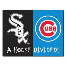 Chicago White Sox Map by Fanmats Mlb White Sox Chicago Cubs House Divided Black 2 Ft 10 In
