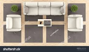 Modern Living Furniture Top View Modern Living Room Sofa Stock Illustration 426682330