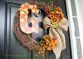fall wreath ideas craftaholics anonymous monogram fall wreath