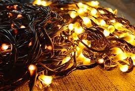 Brown Wire Christmas Lights String Lights 21 Ft Plug In Tan Silicone Tip Brown Wire Amber