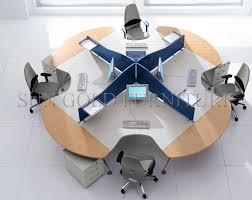 bureau rond type modern office workstation for 4 sz ws470 buy