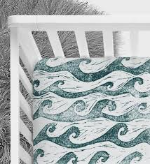 Surfer Crib Bedding Waves Crib Sheet Surfer Nursery Baby Boy Baby Baby
