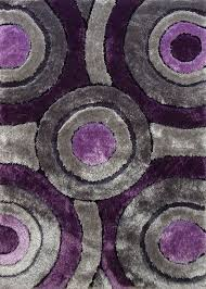 Purple And Gray Bedroom by 2 Piece Set Shaggy Vibrant Gray U0026 Purple Hand Tufted Area Rug