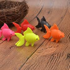 5 pcs plastic swimming goldfish ornaments aquarium fish tank