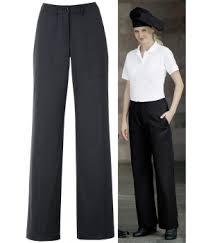 femme plus cuisine pantalon cuisine femme noir coupe droite taille élastiquée dos