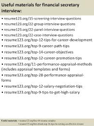 top 8 financial secretary resume samples
