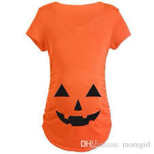 2018 pregnant halloween t shirt maternity pumpkin gift tops plus