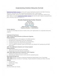 sample resume format for freshers engineers resume examples 2017