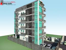 a proposed architectural design of a five storey residential