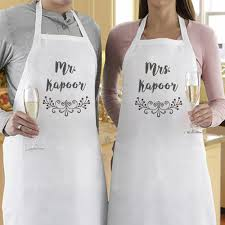 mr and mrs personalized aprons at rs 649 aprons id
