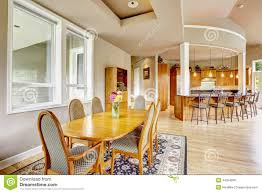 kitchen interior witn dining area in luxury house real estate i