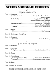 playbill wedding program nuptial nostalgia stationary a year of strategic serendipity