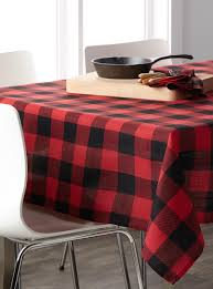 buffalo check tablecloth simons home u0026 decor simons maison