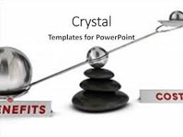 cost benefit powerpoint templates crystalgraphics