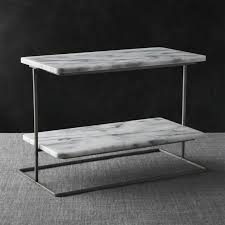french kitchen marble 2 tier server crate and barrel