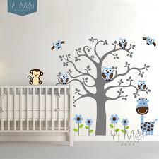 Nursery Owl Wall Decals Lovely Flower Tree Giraffe Monkey Owl Wall Decal Sticker Mural