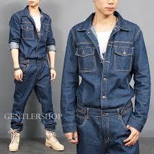denim jumpsuit mens mens fashion overall one blue denim jumpsuit 8812