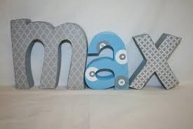 custom wood letters 3 letter set nursery decor wooden