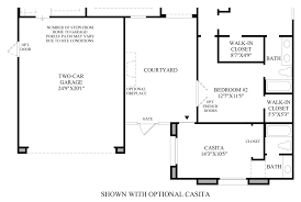 Floor Plan Front View by Montecito The Catania Home Design