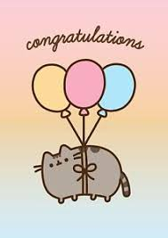 congratulations promotion card pusheen the cat congratulations driving test baby promotion