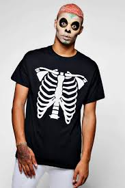 Halloween Skeleton Bodysuit Halloween Skeleton Print T Shirt Boohoo