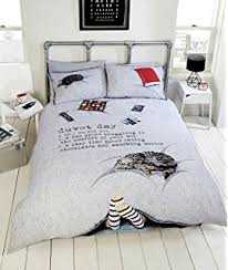 Newspaper Bedding Cute Cats Newspaper Print Duvet Cover Set Double Bed Size Novelty