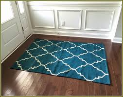 Wool Area Rugs 4x6 Walmart Area Rugs 4 6 Square Blue White Trellis Wool Carpet