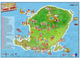 tourism map of lombok island indonesia vakantie pinterest