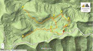 Blue Ridge Mountains Map Graveyard Fields Loop Trail Asheville Trails
