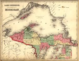 Map Of Lake Superior Michigan Upper Peninsula 1873 Scanned Maps Map Library