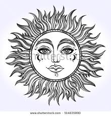 drawn sunshine sun design pencil and in color drawn sunshine sun