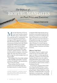 the impacts of biofuel mandates on food prices and emissions