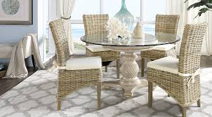 5 pc round pedestal dining table cindy crawford home key west light 5 pc pedestal dining room