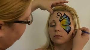 Halloween Makeup Butterfly by How To Face Paint A Side Butterfly By Mandi Ilene Youtube