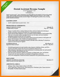 Sample Dental Resume by 9 Dental Resume Sample Authorized Letter