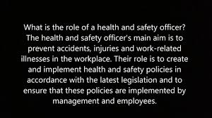 Job Desk Safety Officer Duties Of A Construction Safety Officer Youtube