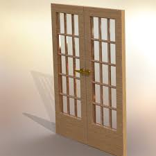 french doors with glass double french doors with glass step iges stl step iges